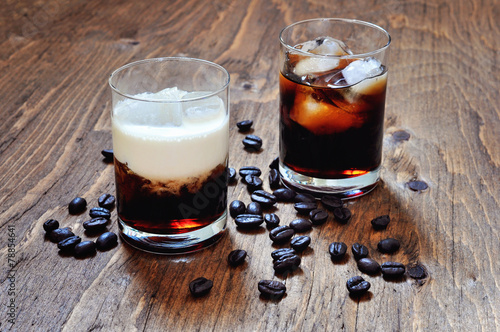 Coffee liqueur with cream