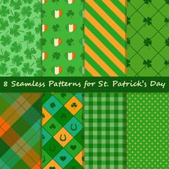 Set of St. Patrick's Day seamless pattern