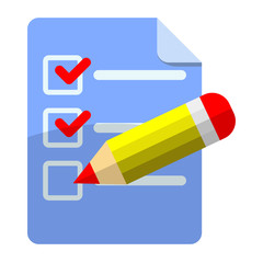 Icono checklist con lapicero