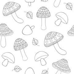 abstract mushrooms