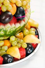 fruit salad in watermelon