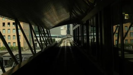 Time Lapse POV of the Tokyo Monorail System and Skyline -  Tokyo Japan