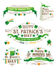 Set of Patrick's day decorative elements