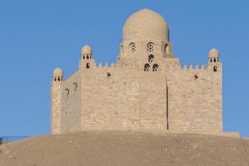 The Mausoleum of  Aga Khan in Aswan, Egypt
