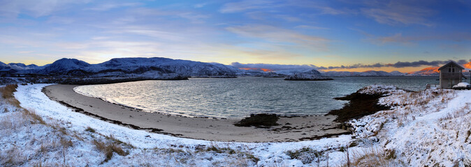 Northern Norway. Bay of Sommaroy.