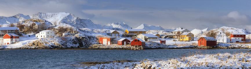 Northern Norway. FIshing village panorama.
