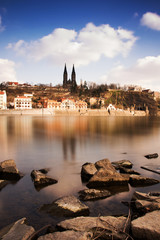 View of historical fort Vysehrad in Prague, Czech republic