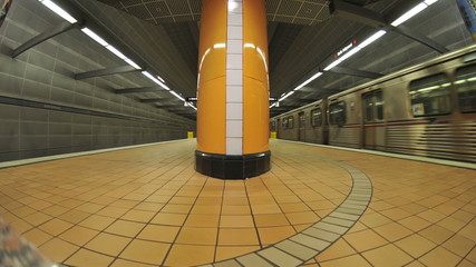 Subway Enters Station