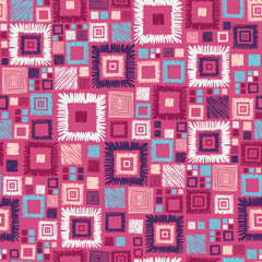 Colorful geometric squares seamless pattern background
