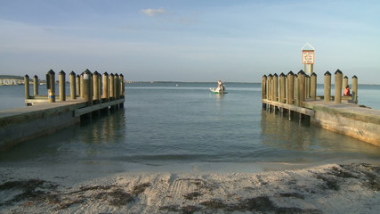 Boat Pier on Sanibel Island Florida