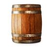 Leinwanddruck Bild - Wooden oak barrel isolated on white background