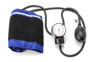 Blood pressure equipment isolated on the white background
