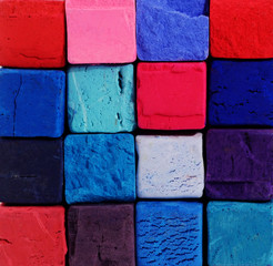 Background - bright pastel chalks with red,blue,violet colors