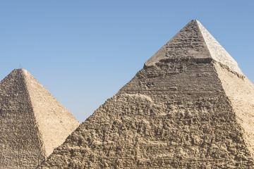 Pyramids of Khafre and Khufu, Giza (Egypt)
