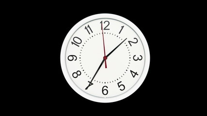 Time Lapse of Standard Time Clock