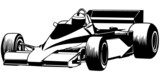 Formula One - Driver And Racing Car