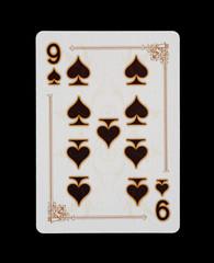 Spielkarten - Poker - Pik Neun im Spiel