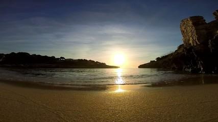 sunset an sea