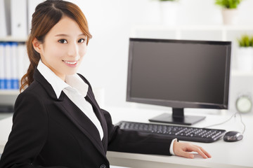 young asian business woman working in the office