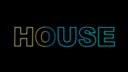 Set of 10 House text LEDS reveals with alpha channel