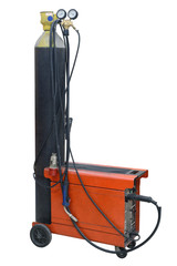 welding machine isolated on a white background