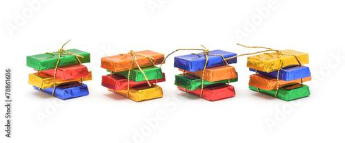 wrapped chocolate candy