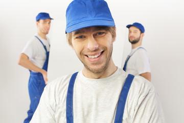 Closeup portrait of builders