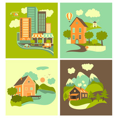 Set of homes