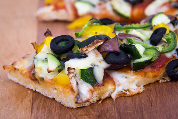 Vegetable homemade rustic pizza