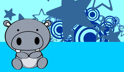 cute baby hippo background