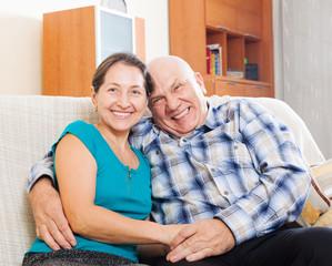Happy loving mature couple