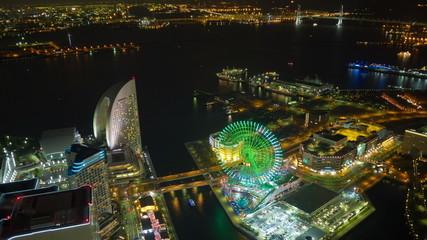 Yokohama minatomirai light up time laspe