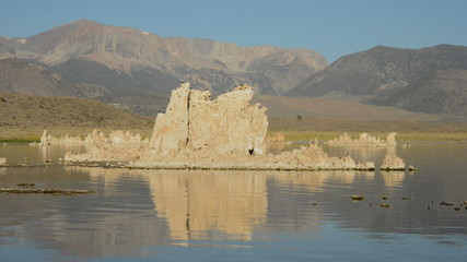 Tufa Formation on Scenic Mono Lake California - Time Lapse