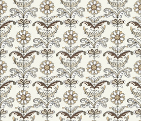 Delicate seamless pattern with flowers.