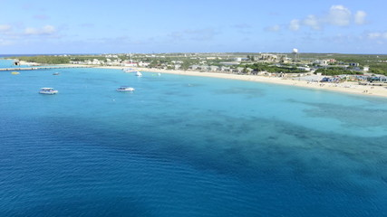 Time Lapse of Grand Turk Island Beach from Ship