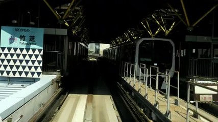 Time Lapse POV of Monorail with Tokyo Skyline -  Tokyo Japan