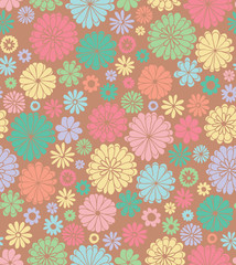 Retro floral seamless pattern.