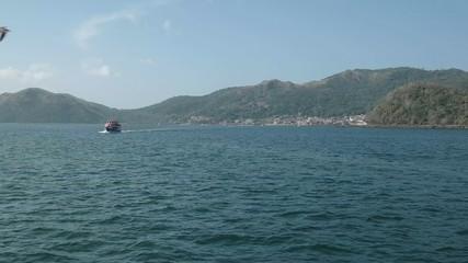 Tourist Ferry Sailing From Isla Taboga Panama Central America