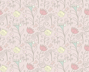 Floral background. Retro style.