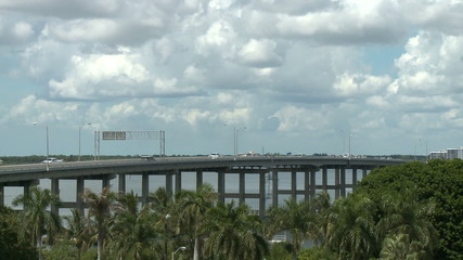 Time Lapse of Clouds over Bridge