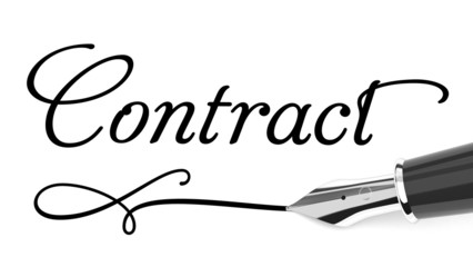 Contract handwritten