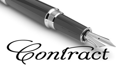 Contract handwritten and pen