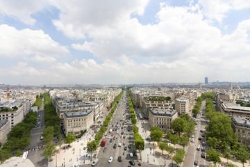パリ凱旋門から望むパリの街並 南の方角 モンパルナス方面