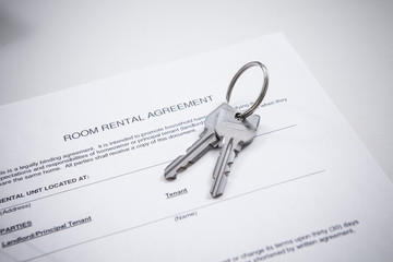 Key, room rental agreement