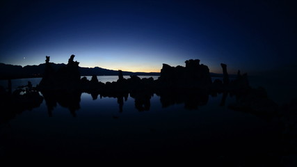 Tufa Formation on Scenic Mono Lake California at Sunset - Time Lapse