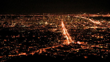 Panning Timelapse of San Francisco Bay at Night