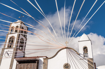 Main square of the city Santiago del Teide