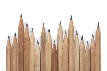 concept abstract background from pencils with space for text or