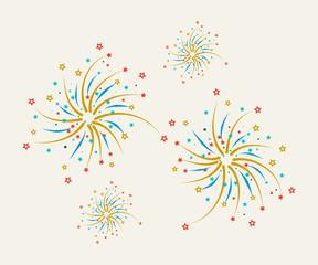 Fireworks design on a light background