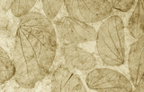 Natural leaves paper texture closeup vintage style